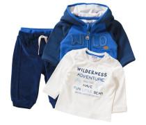 Baby Set Sweatjacke + Langarmshirt + Nickihose für Jungen