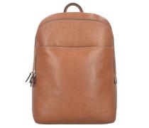 'Toscana' Rucksack Leder 40 cm Laptopfach camel / braun