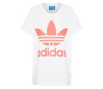 Shirt 'big Trefoil Tee' pink / weiß