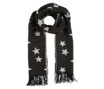 Schal mit Sternen-Print schwarz / weiß