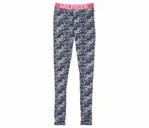 Mädchen Hose lang 'Bold Legging Print' ultramarinblau / hellrot / weiß