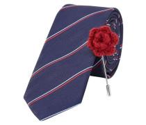 Krawatte Trendige blau / rot