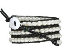 Armband schwarz / perlweiß