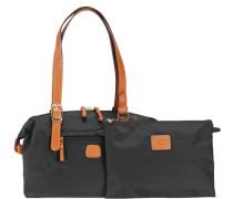 X-Bag Reisetasche 27 cm cognac / schwarz
