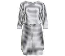 Kleid 3/4-Ärmel blau / weiß