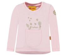 Sweatshirt mit Ziertasche pink