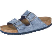 'Arizona' Pantoletten himmelblau / weiß