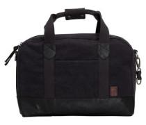 Baumwoll-Leinen-Freizeittasche schwarz