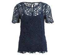 Spitzen-Bluse nachtblau