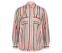 Langarm-Bluse mit aufgesetzter Brusttasche