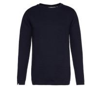 Sweatshirt mit dezenter Strukturierung 'Omed' schwarz