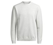 Minimal strukturierter Pullover weiß