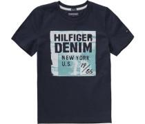 T-Shirt für Jungen Organic Cotton dunkelblau