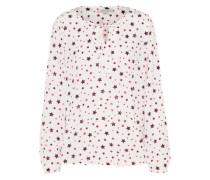 Bluse mit Sternen-Print navy / rot / weiß