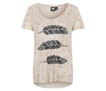 Printshirt 'Free Wheel' beige / schwarz