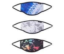 Stoffmasken 3er Pack 'ice Splat' mischfarben