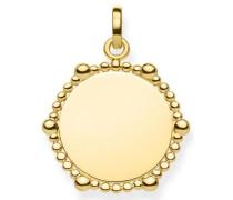 Kettenanhänger 'Coin Dots Lbpe0018-413-39' gold