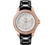 ice-watch Quarzuhr »Ice crystal - Rosé Gold Black Cy.rgb.u.l.15« gold / schwarz