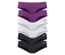 Hipster-Panty (6 Stck.) lila / schwarz / weiß