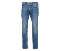 Straight-Fit Jeans 'Denton' hellblau