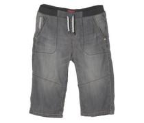 Benno: 3/4-Jeans mit Rippbund basaltgrau