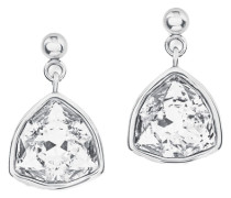 Ohrstecker mit Swarovski Kristallen grau