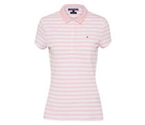 T-Shirt 'polo' pink / weiß