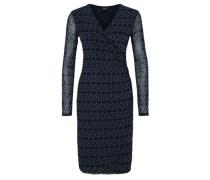 Cache-Coeur Kleid aus Mesh blau