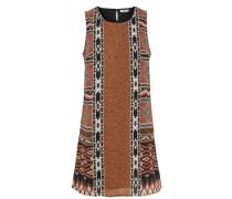 Kleid ohne Ärmel Bedrucktes braun