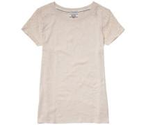 T-Shirt (mit Arm) 'Basic lace cn knit s/s 10' beige