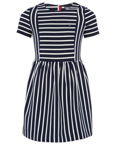 Streifen-Kleid 'Ame' navy / weiß