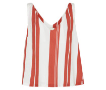 Top 'stripe V - Neck Cami' rot / weiß
