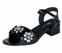 Sandalette mit Blütenapplikation