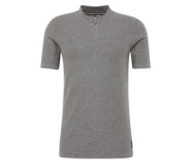 T-Shirt 'slub shortsleeve polo' graumeliert