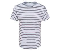 Gestreiftes T-Shirt braun / weiß