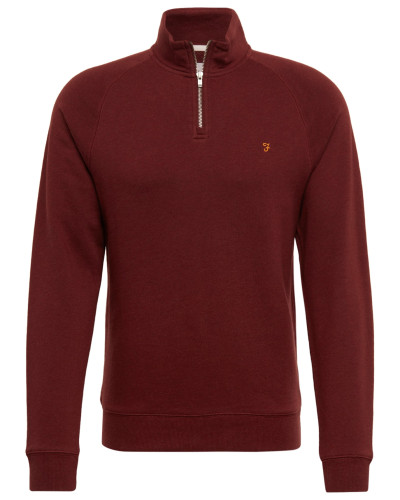 Sweatshirt 'jim 1/4 Zip' weinrot