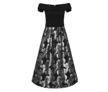 Abendkleid silbergrau / schwarz