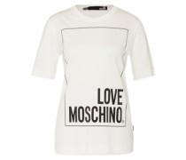 Shirt mit Label-Print weiß