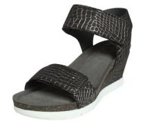 Sandale mit Keilabsatz schwarz
