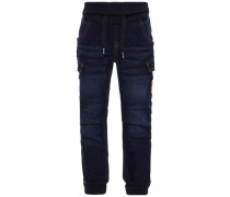 Loose Fit Jeans Pull-on blue denim / dunkelblau