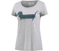 T-Shirt mit Print hellgrau