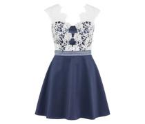 Kleid 'prom' navy / weiß