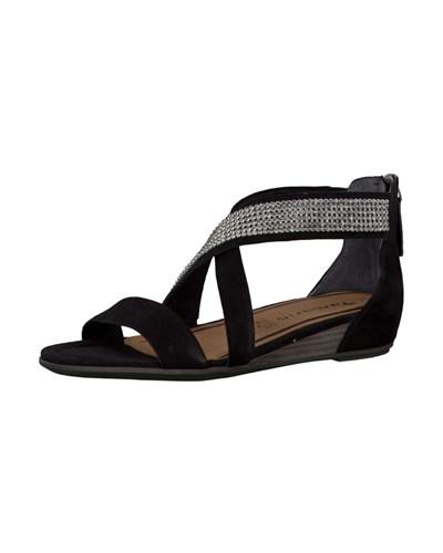 tamaris damen tamaris sandalen schwarz reduziert. Black Bedroom Furniture Sets. Home Design Ideas