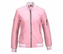 Bomberjacke rosa / weiß