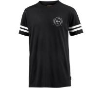 T-Shirt 'Decade' schwarz / weiß