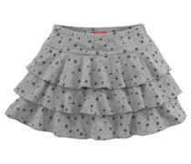 Rüschenrock für Mädchen grau