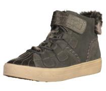Sneaker aus Leder grau