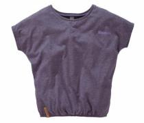 T-Shirt mit Fledermausärmeln lilameliert