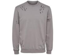 Detailliertes Sweatshirt greige