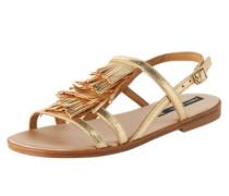 Sandalen mit Fransen 'Ayan' gold